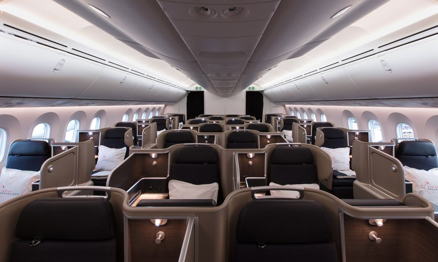 Qantas Business Class Dreamliner