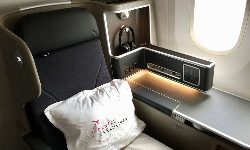 Qantas Dreamliner Business Class