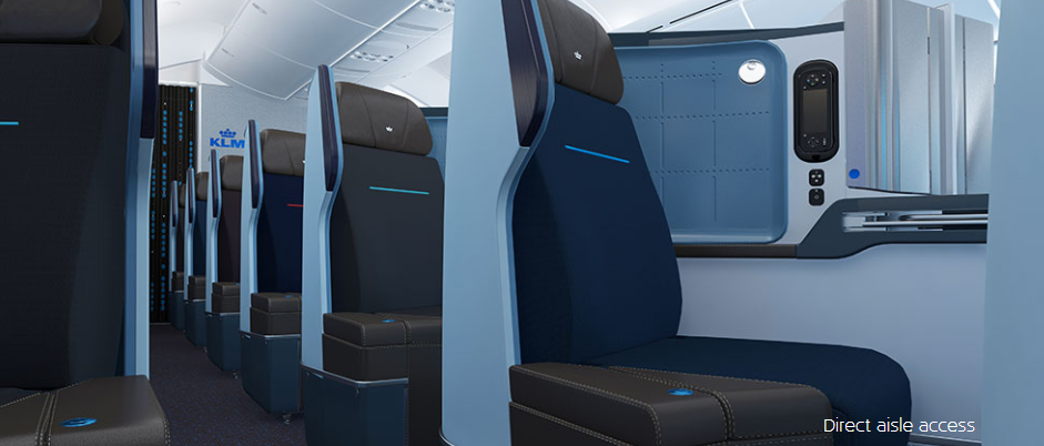 KLM Business Class Flat Beds