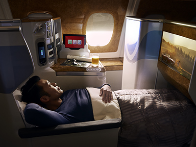Emirates Business Class A380 Flat Beds