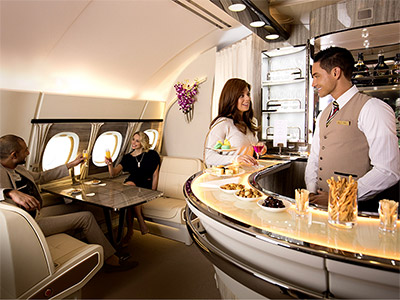Emirates On-Board Lounge