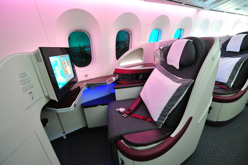 Qatar Business Class Full Flat Beds