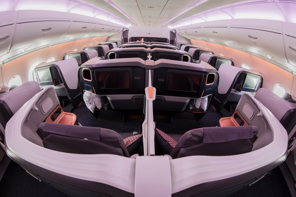 Singapore Airlines new A380 Business Cabin