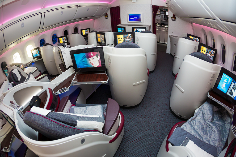 Qatar's Dreamliner Business Cabin