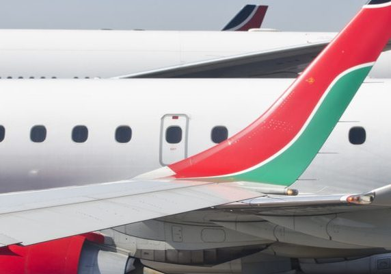 Kenyan Airlines shutter destination size